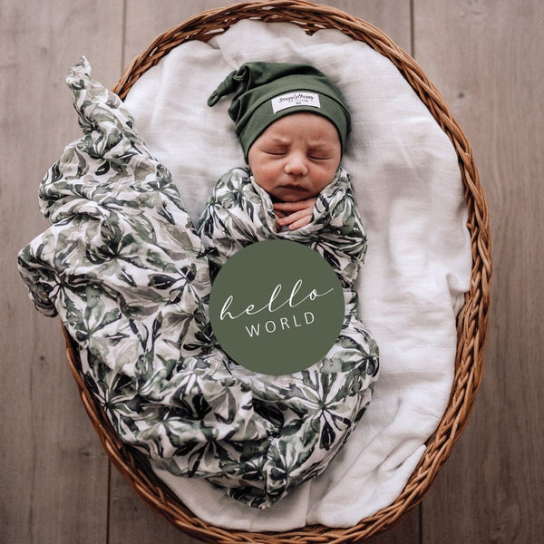 Milestone Cards : Evergreen & Olive Baby Accessory Snuggle Hunny Kids