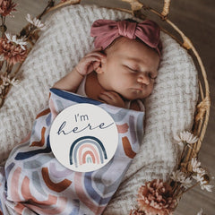 Milestone Cards : Rainbow Baby & Sage Baby Accessory Snuggle Hunny Kids