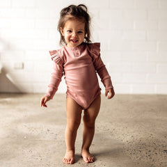 Long Sleeve Bodysuit : Rose Clothing Snuggle Hunny Kids 6-12 Months (0)
