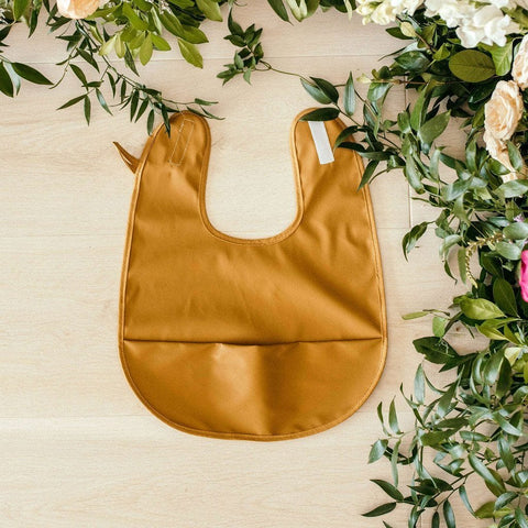 Waterproof Snuggle Bib : Bronze (Byron) Baby Accessory Snuggle Hunny Kids