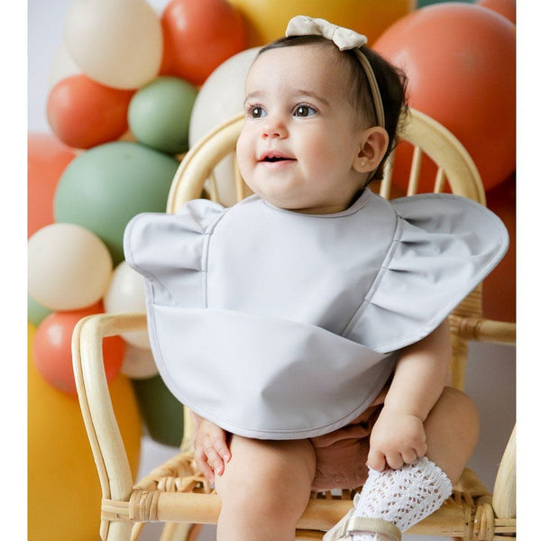 Waterproof Snuggle Bib : Dove Frill Baby Accessory Snuggle Hunny Kids