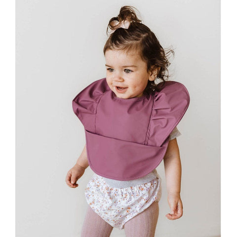Waterproof Snuggle Bib : Mauve Baby Accessory Snuggle Hunny Kids