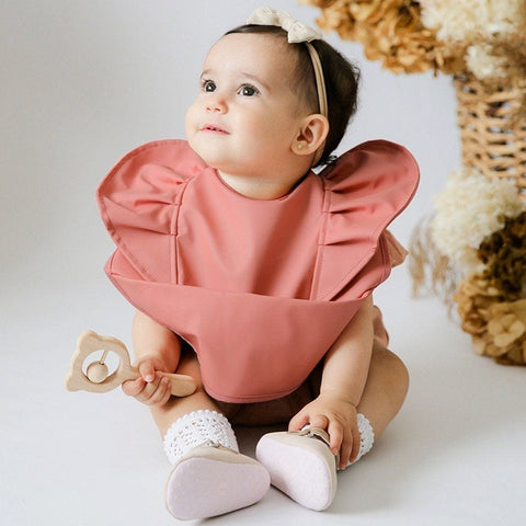 Waterproof Snuggle Bib : Terracotta Baby Accessory Snuggle Hunny Kids