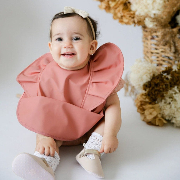 Waterproof Snuggle Hunny Bib: Terracotta