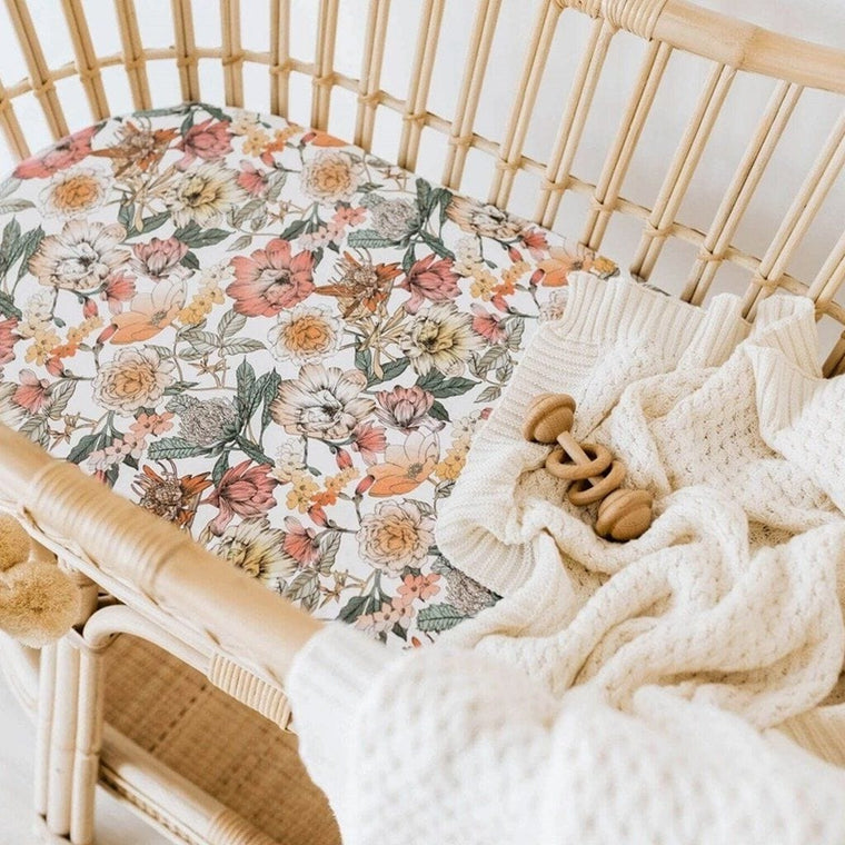 Jersey Fitted Bassinet Sheet : Australiana