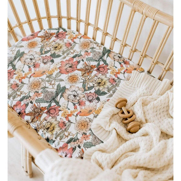 Jersey Fitted Bassinet Sheet and Change Pad Cover : Australiana
