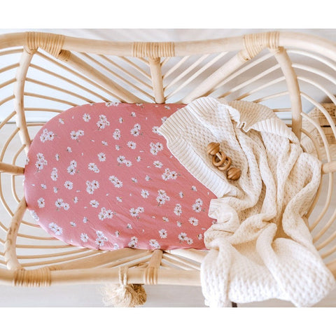 Jersey Fitted Bassinet Sheet : Daisy Sheet Snuggle Hunny Kids