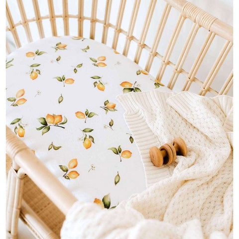 Jersey Fitted Bassinet Sheet : Lemon Sheet Snuggle Hunny Kids