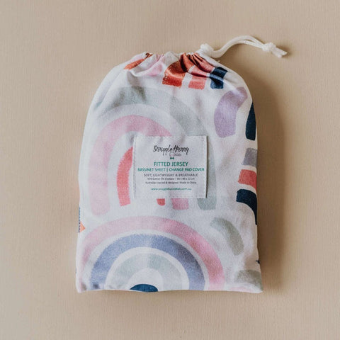 Jersey Fitted Bassinet Sheet : Rainbow Baby Sheet Snuggle Hunny Kids