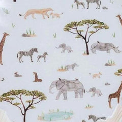 Jersey Fitted Bassinet Sheet and Change Pad Cover : Safari