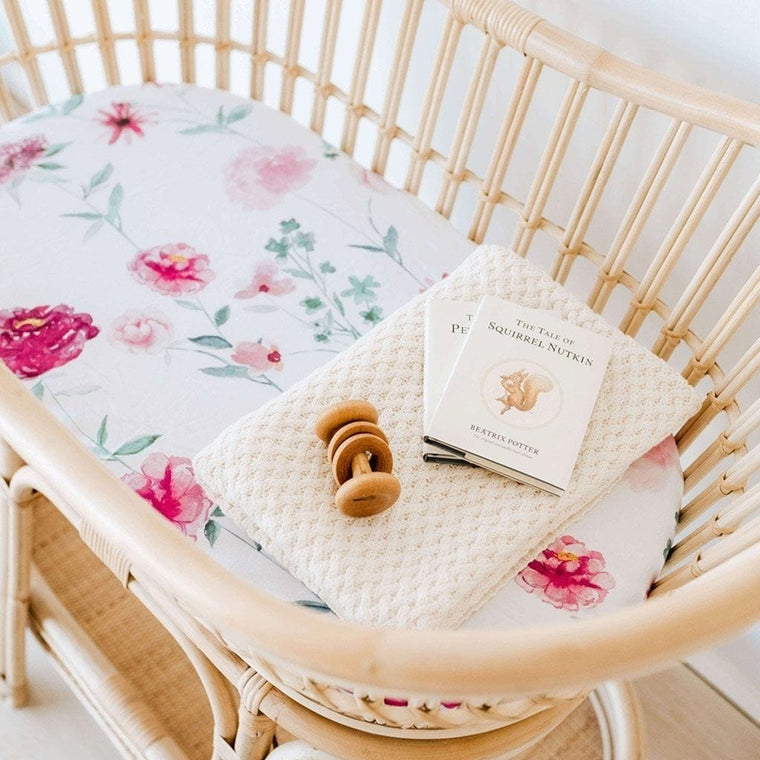 Jersey Fitted Bassinet Sheet : Wanderlust