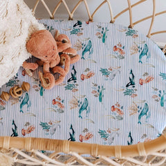 Jersey Fitted Bassinet Sheet : Whale Sheet Snuggle Hunny Kids