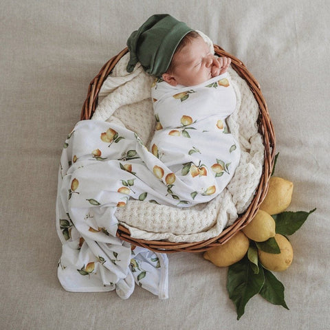 Jersey Wrap & Beanie Set : Lemon Wraps Snuggle Hunny Kids