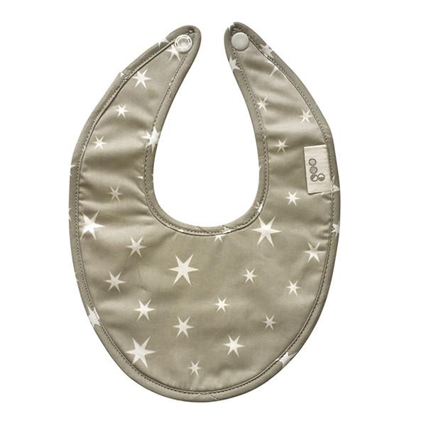 Goo Organic Cotton Dribble Bib - Starry Night Grey