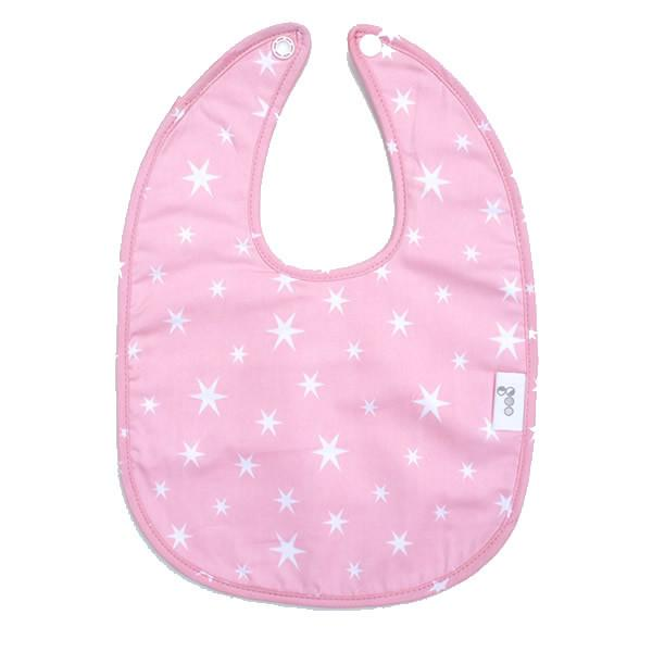 Goo Organic Cotton Baby Bib - Starry Night Pink