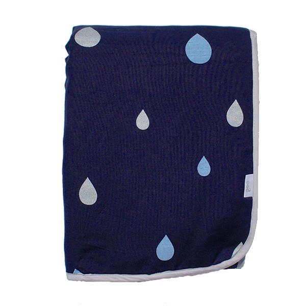 Goo Organic Bassinet Quilt - Summer Rain Blue - Ecosprout - New Zealand