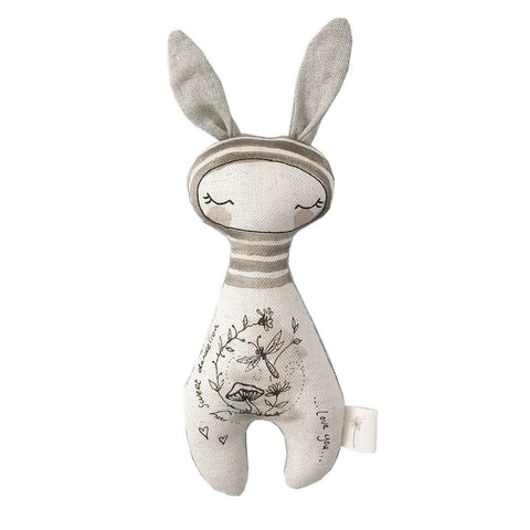 Giftbox Baby Swaddle & Rattle Pack : Bunny Gift Box These Little Treasures