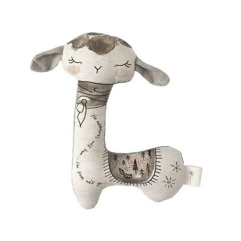 Giftbox Baby Swaddle & Rattle Pack : Llama Gift Box These Little Treasures