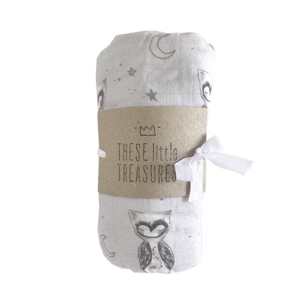 Organic Cotton Baby Swaddle : Owl Wraps These Little Treasures