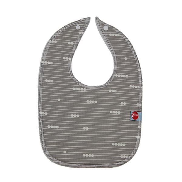 Goo Organic Cotton Baby Bib - Abacus Grey - Ecosprout - New Zealand