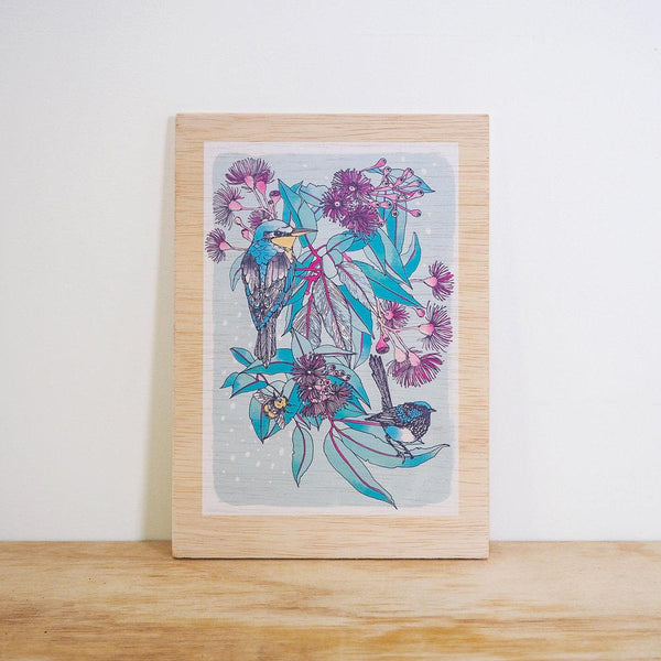 Kingfisher Timber Print