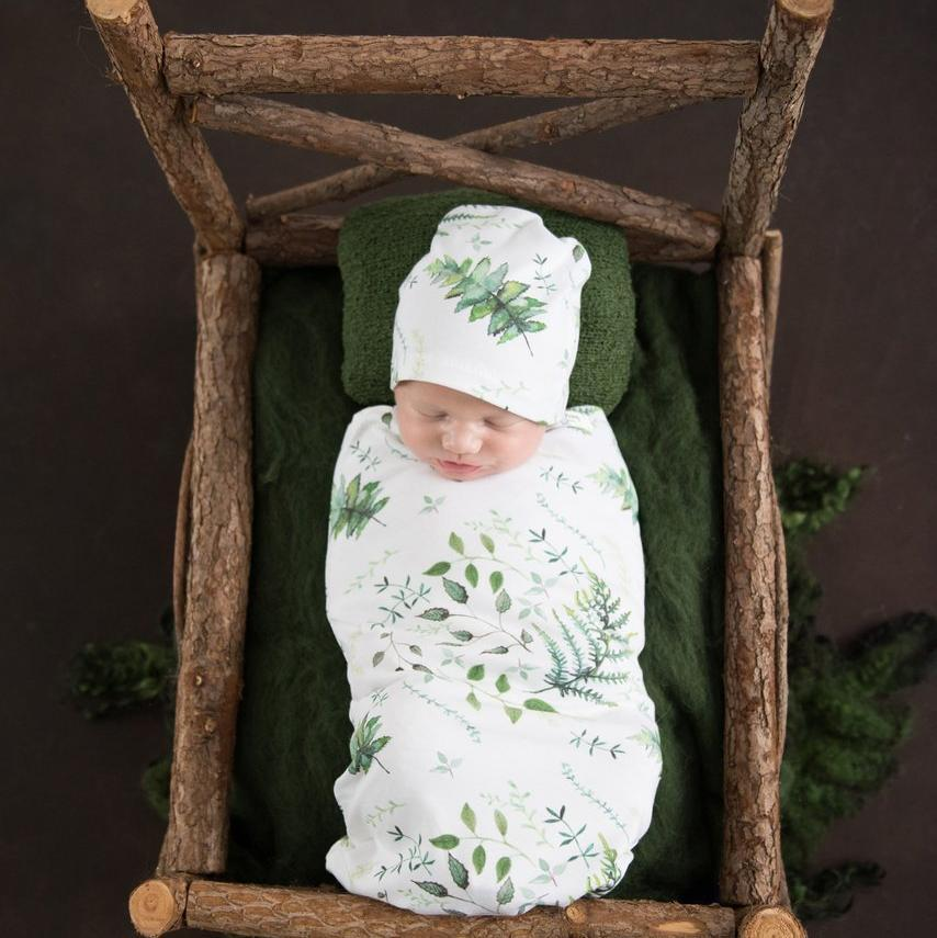 Swaddle Pouch & Beanie Set : Enchanted