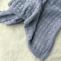 Ecosprout Merino Vintage Baby Blanket - Marl Grey - Ecosprout - New Zealand
