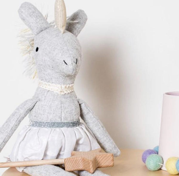 Alice Unicorn - handmade felted wool toy Toys and the little dog laughed
