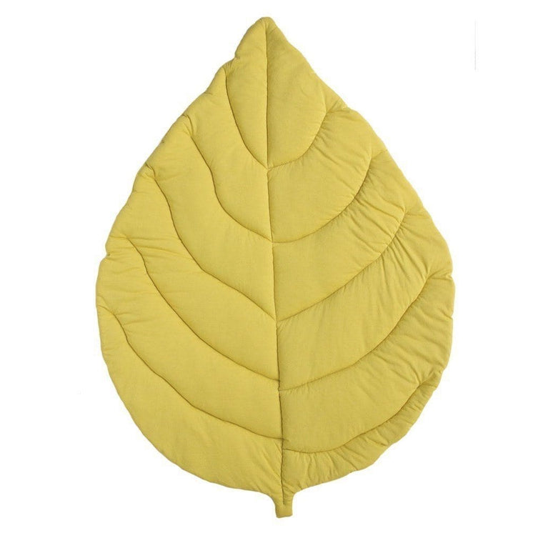 Jersey Cotton Leaf Playmat : Citron