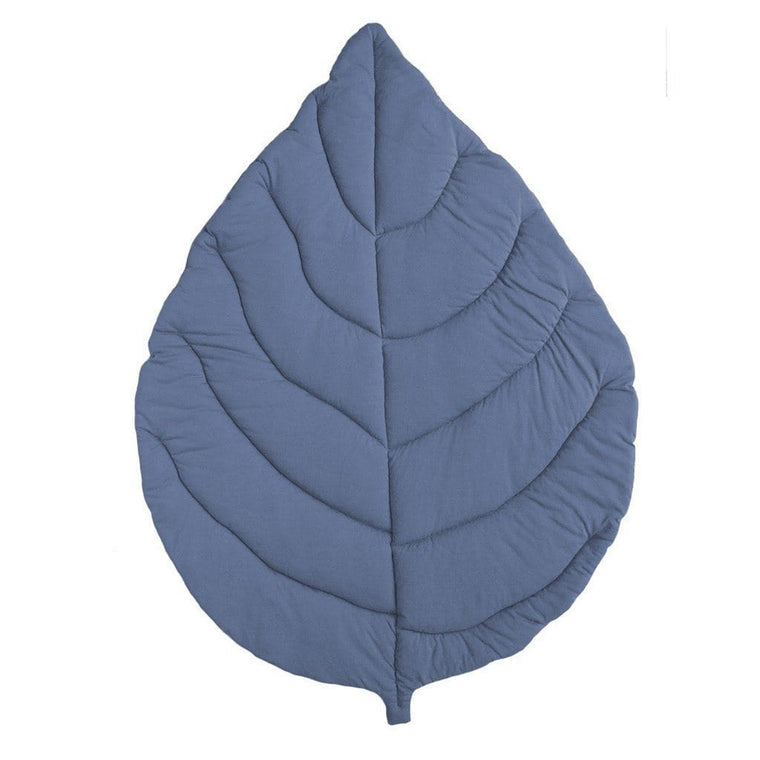 Jersey Cotton Leaf Playmat : Indigo