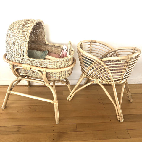 Rattan Doll's Bassinet - Bella