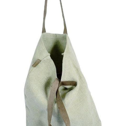 Leather Handle Tote : Natural Bag Apple Green Duck