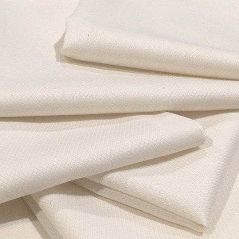 Organic Cotton Jacquard Muslin Face Cloths : White