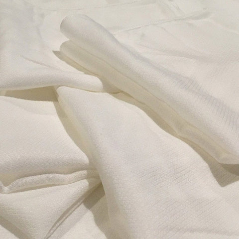 Bamboo Jacquard Muslin Face Cloths : White