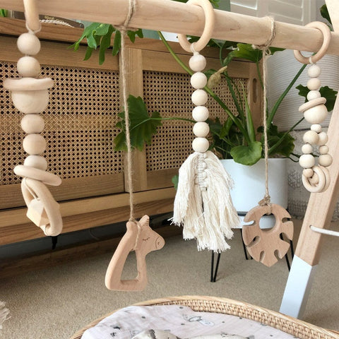 Wooden Playgym Toy: Monstera Leaf Toys Ecosprout