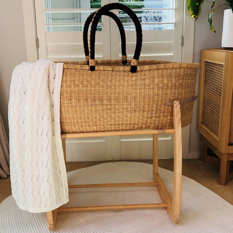 Moses Basket Rocking Stand : Natural Nursery Ecosprout
