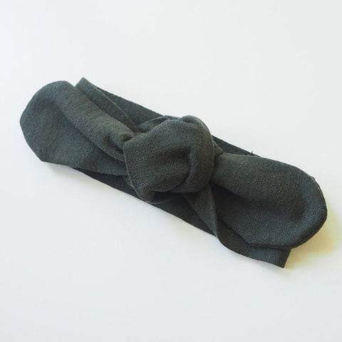 Merino Wool Topknot Headband: Dark Olive Baby Accessory Snuggle Hunny Kids