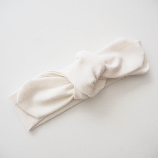 Topknot Headband: White