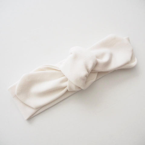 Topknot Headband: White Baby Accessory Snuggle Hunny Kids