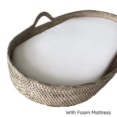 Rattan Changing Basket : Natural Motif (SECONDS)