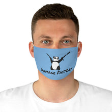 Load image into Gallery viewer, Angry Panda Blue Fabric Face Mask