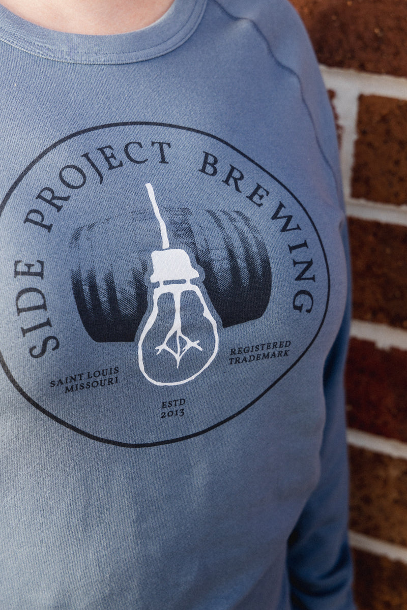 Side Project Lightbulb & Barrel Crewneck