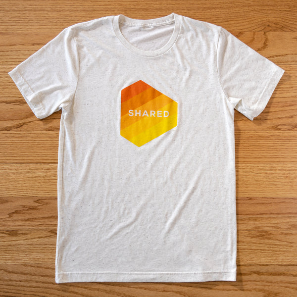 Shared Gradient Logo T-Shirt - Oatmeal