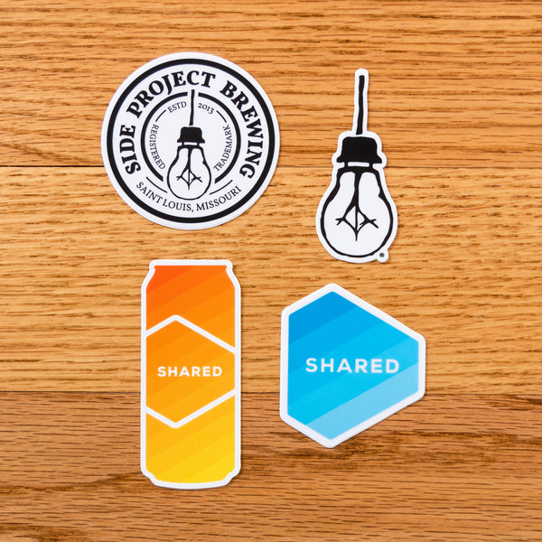 Side Project & Shared 4-pack Stickers