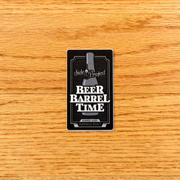 Side Project Beer : Barrel : Time Sticker