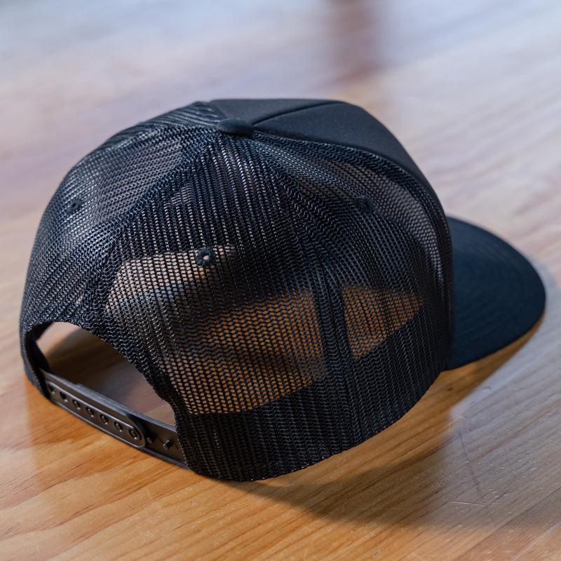 Side Project Black Mesh Back Patch Hat