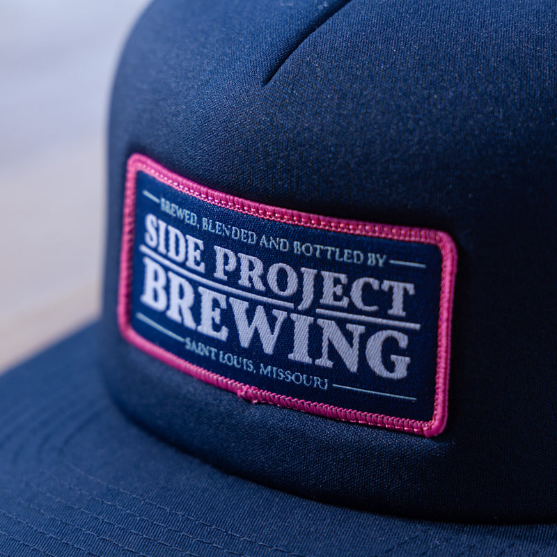 Side Project Navy Mesh Back Patch Hat