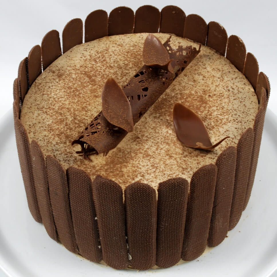 Chocolate Cappuccino Cake - Chocolate Cake Layered With Delicious Cappuccino Filling.
