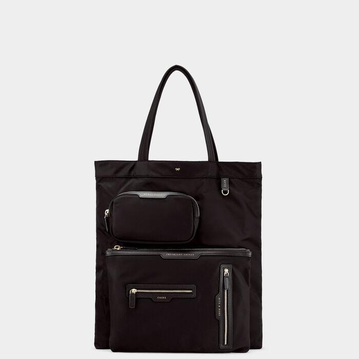 Multi-Pocket Nylon Tote