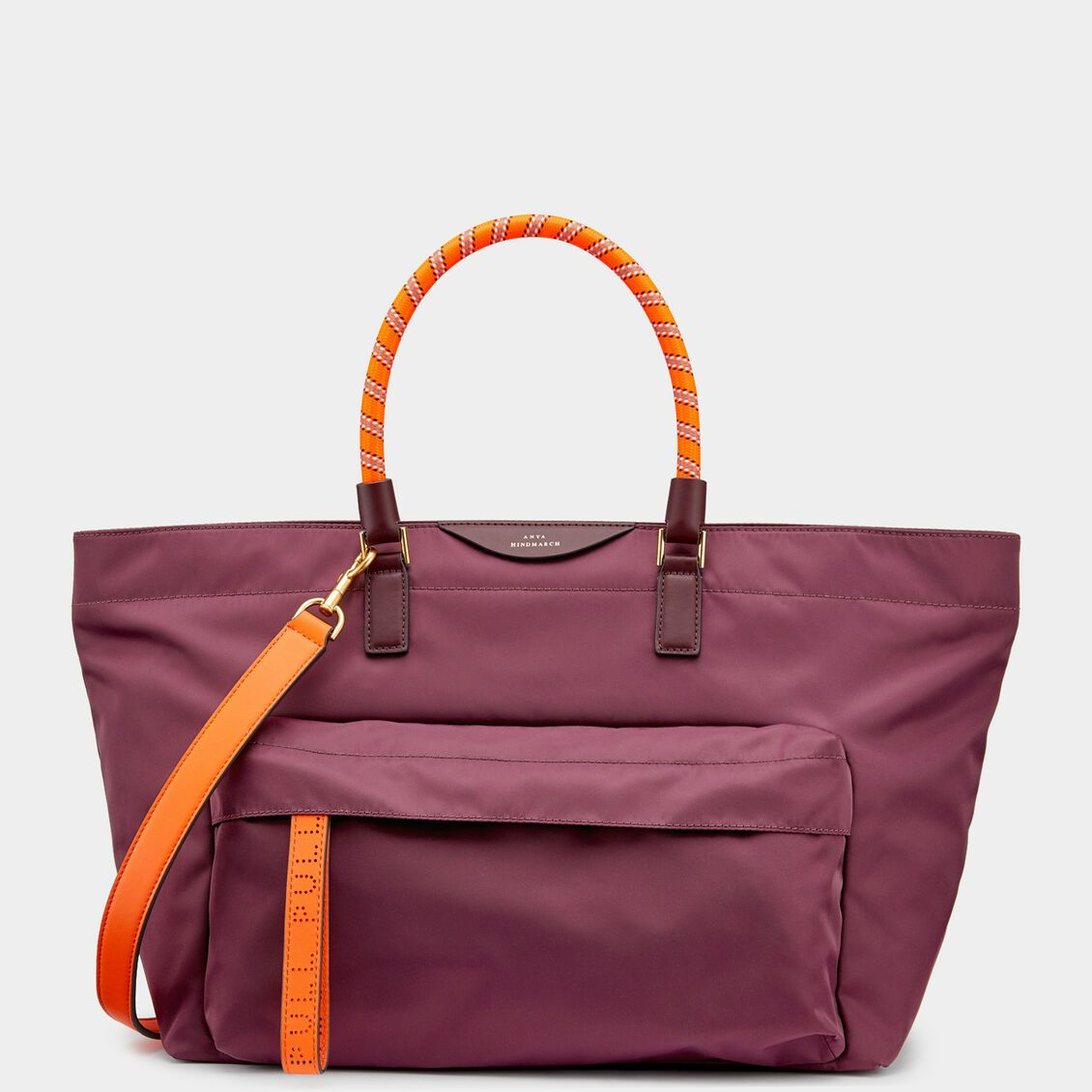 Large Nylon Tote with Bungee Handles